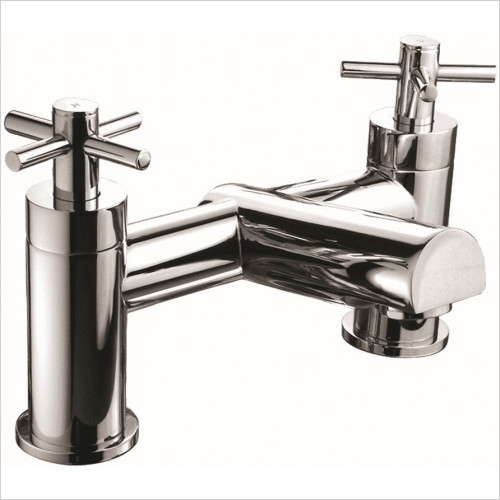 Qualitex Bath Taps, Mixers &  Wastes - Trio Cross-Head Bath Filler