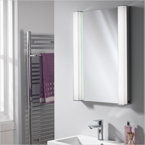 Qualitex Mirrored Cabinets - Incus Recessed Mirror Cabinet W/Alu Sides 500x700x156mm