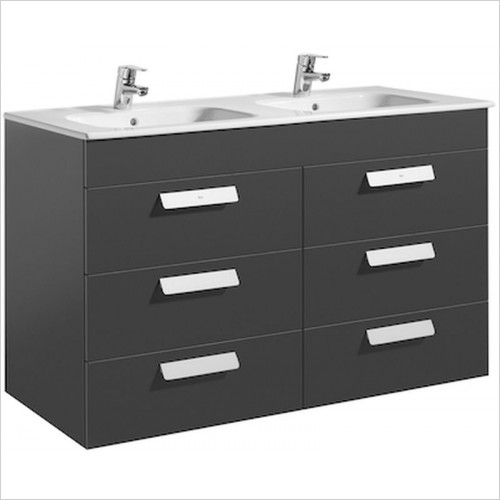 Roca Unit & Basin - Debba Base Unit 1190 x 460mm - 6 Soft-Close Drawers