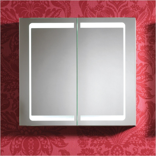 Qualitex Mirrored Cabinets - Cumulus 2 Door Mirror Cabinet 700x650x140mm