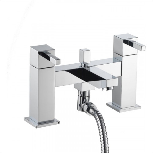 Pura Bath Taps, Mixers & Wastes - Sq2 Bath Shower Mixer Including Shower Kit