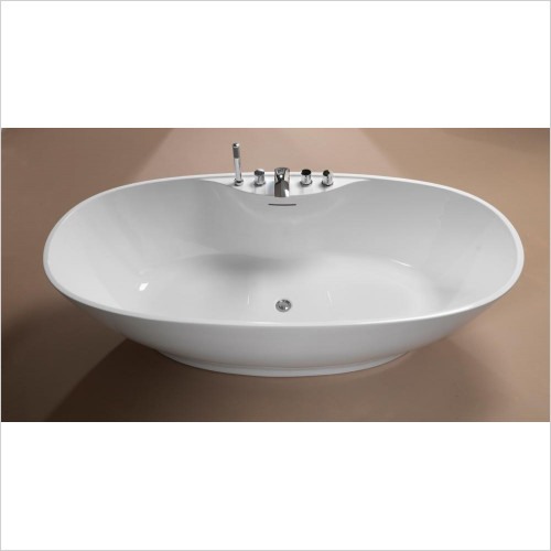 Qualitex Bathing - Oregon Freestanding Bath 1850x850mm With Waste