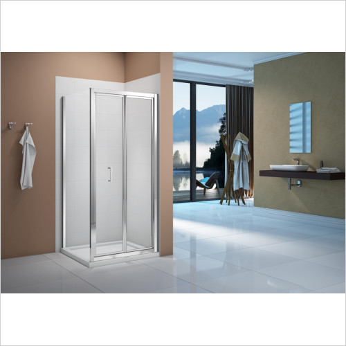 Merlyn Enclosures - Vivid Boost 760mm Bi-Fold Door/760mm Square Shower Tray Pack