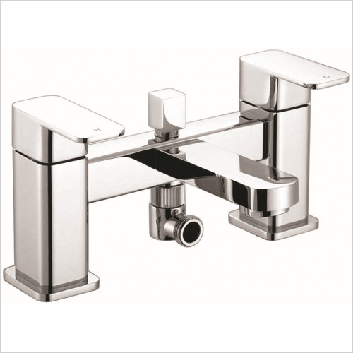 Qualitex Bath Taps, Mixers &  Wastes - Utah Bath Shower Mixer With Shower Kit