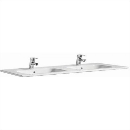 Roca Unit & Basin - Victoria-N Square Wall-Hung/Vanity Double Basin 1200x460mm
