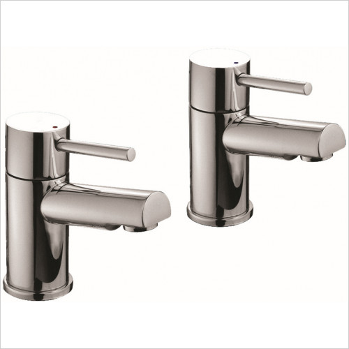 Qualitex Basin Taps, Mixers & Wastes - Ohio Basin Taps, Pair