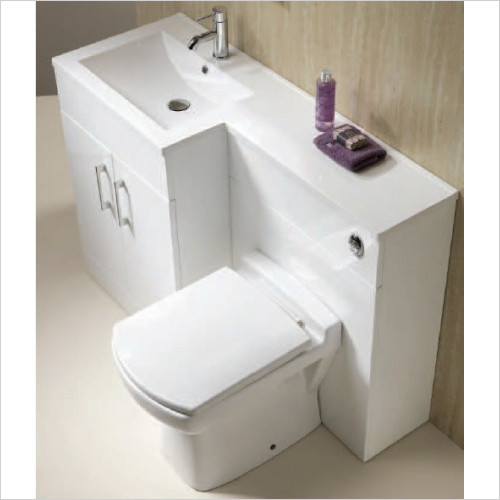 Qualitex Furniture - Monica 60 Slim WC Unit 598x250x800mm