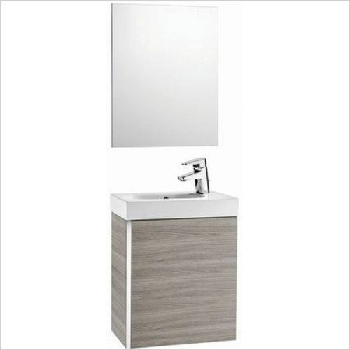 Roca Unit & Basin - Mini Pack Basin & Base Unit & Mirror W450 x D250 x H575mm