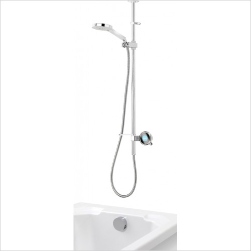 Aqualisa - Q Dual Outlet Exposed With Adj Head & Bath Overflow Filler