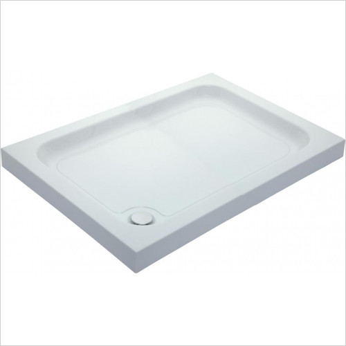 Qualitex Showering - Cast Stone Rectangle 80mm Tray 1400x800mm