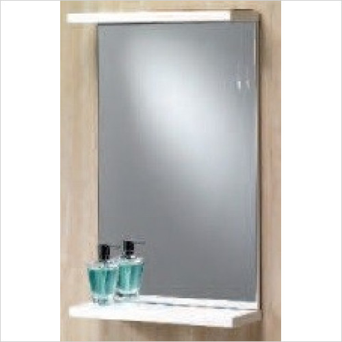 Qualitex Mirrors & Lighting - Richmond 55 Mirror With Shelf 549x165x750mm