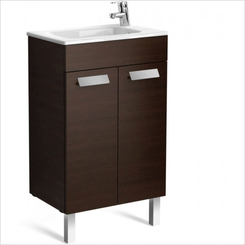Roca Unit & Basin - Debba Compact Basin & 2 Door Base Unit 505 x 360 x 720mm