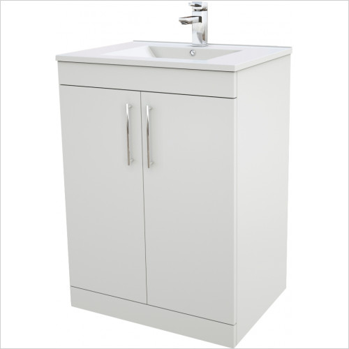 Frontline Unit & Basin - Contemporary 600 x 450mm Cabinet & Basin