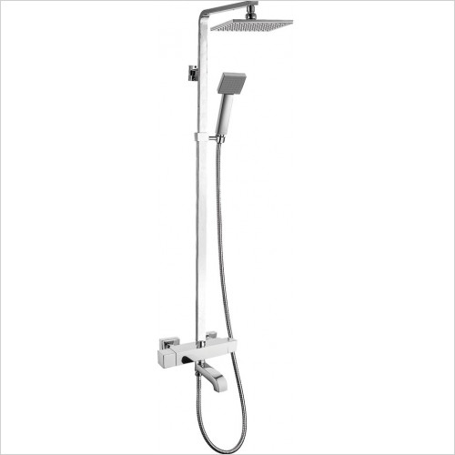 Qualitex Showering - Nevada Square Thermostatic Shower Kit