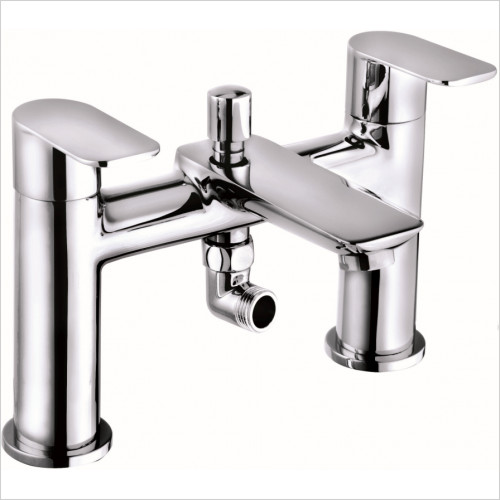 Qualitex Bath Taps, Mixers &  Wastes - Charlotte Bath Shower Mixer With Shower Kit