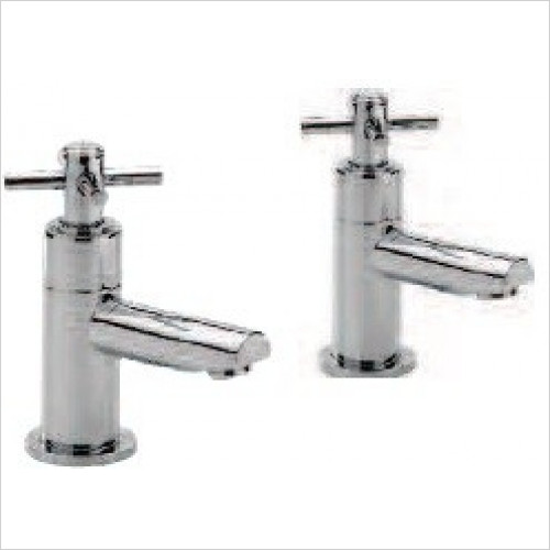 Qualitex Bath Taps, Mixers &  Wastes - Trio Cross-Head Bath Taps, Pair