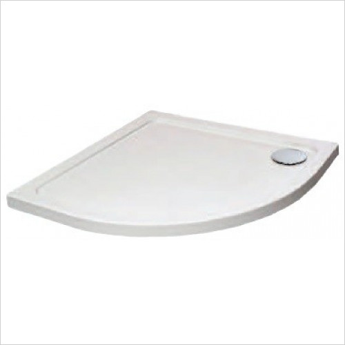 Qualitex Showering - Genesis Quadrant Tray 900x760mm LH