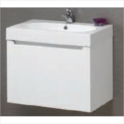 Qualitex Unit & Basins - Radius 60 1 Drawer Wall Hung Base Unit 598x395x420mm