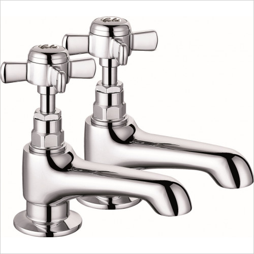 Qualitex Bath Taps, Mixers &  Wastes - Edwardian Long Spout Bath Taps (Pair)