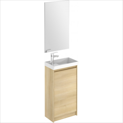 ABC Unit & Basin - Enjoy Floor Standing Cloakroom Unit & Mirror Combination Set