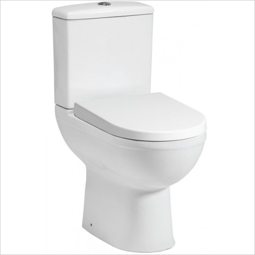 Qualitex Sanitary Ware - Carolina Elevated Height Close Coupled Pan & Soft Close Seat