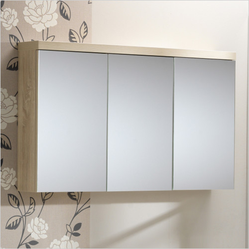 Qualitex Mirrored Cabinets - Eden 120 3 Door Mirrored Cabinet 1200x160x563mm