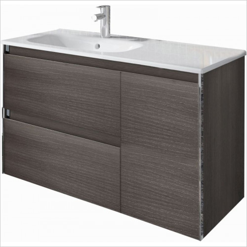 ABC Unit & Basin - Valencia 900mm Wall Hung Unit