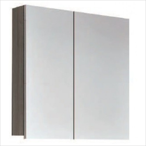 Qualitex Mirrored Cabinets - Nika 70 Mirrored Cabinet 700mm