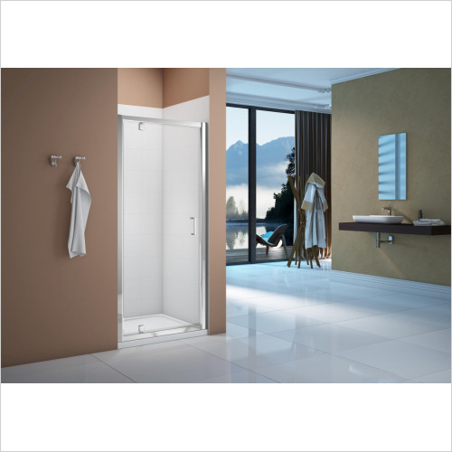 Merlyn Enclosures - Vivid Boost 760mm Pivot Door & 760mm Square Shower Tray Pack