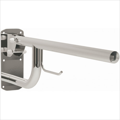Qualitex Accessories - Comfort Single Hinged Arm & Roll Holder 500mm