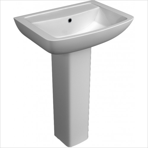 Qualitex Sanitary Ware - Eden Basin 550x415mm 1TH