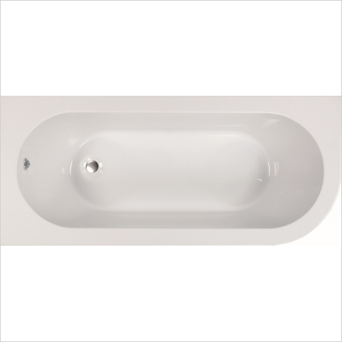 Qualitex Bathing - Kansas 1700x725mm Offset Bath Only - Left Hand